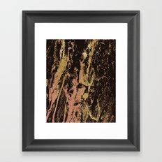 Rose gold & gold marbled Framed Art Print