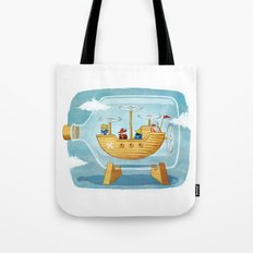 AIRSHIP IN A BOTTLE Tote Bag