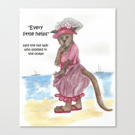Every Little Helps Canvas Print