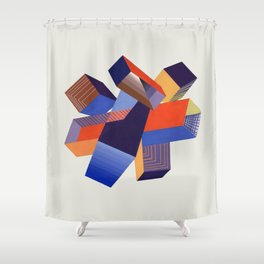 Geometric Painting by A. Mack Shower Curtain