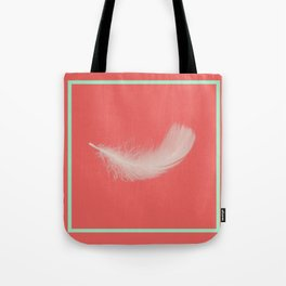 Coral Feather  Tote Bag