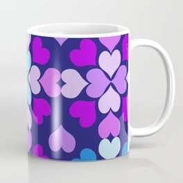 Ultra-Violet Heart Quilt Coffee Mug