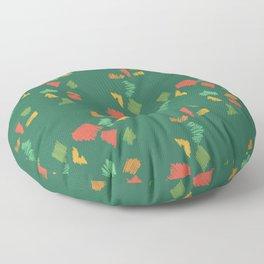 Holiday Pencil Scribbles Green Floor Pillow