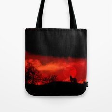 Cry wolf Tote Bag