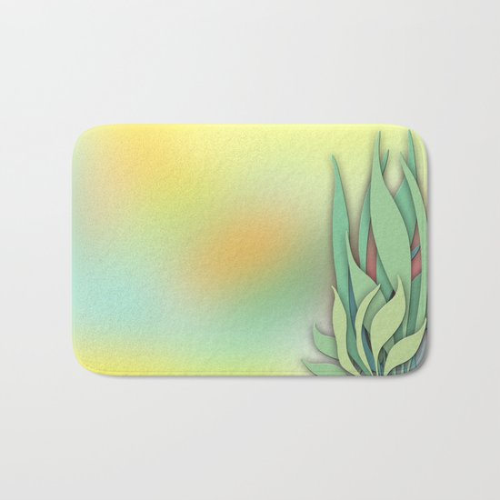 Abstract Plant in the Summer Bath Mat