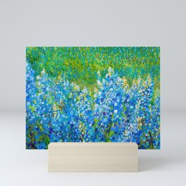 Bluebonnet Panorama Mini Art Print