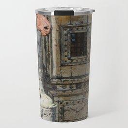 Horse head and antiques Travel Mug