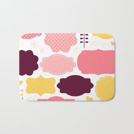 Color retro labels set Bath Mat
