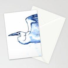 Heron in Indigo Stationery Cards