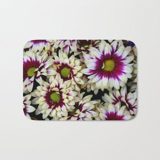 Multi color daisies! Bath Mat