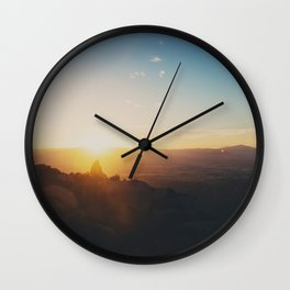 sunrise on Mt Woodson ... Wall Clock