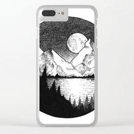 Moonlit Alaska Clear iPhone Case