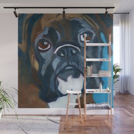 Boxer Lil E Dog Portrait Wall Mural