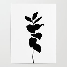 Leaves ink painting - Evie Poster