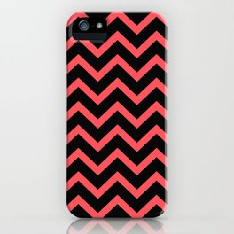 Infra Red Black Zigzag Chevron Pattern iPhone Case