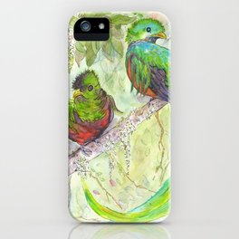 Emerald feathers iPhone Case