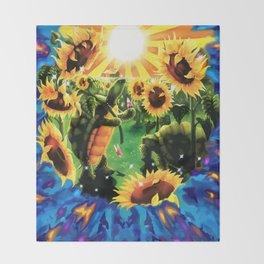 Terrapin Station & Sun Flowers Throw Blanket