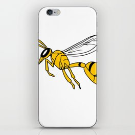 Wasp Flying Drawing iPhone Skin