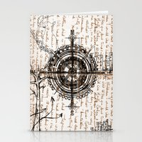compass Stationery Cards featuring Compass by Obdine