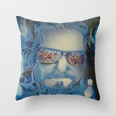 Blue Dude : The Big Lebowski  Throw Pillow