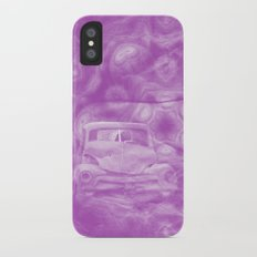 wreck exploding from fracture purple fractal Slim Case iPhone X