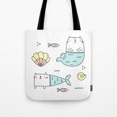 Ocean Merkitties Tote Bag