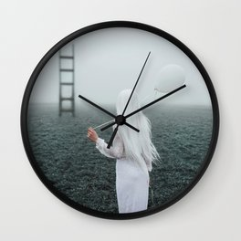All white Wall Clock