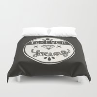 forever young Duvet Covers featuring Forever Young by Landon Sheely