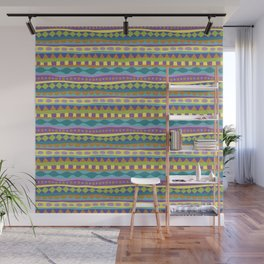 Stripey-Jardin Colors Wall Mural
