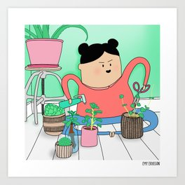 Spring cleaning Art Print