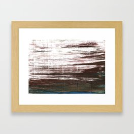 Bistre abstract watercolor Framed Art Print