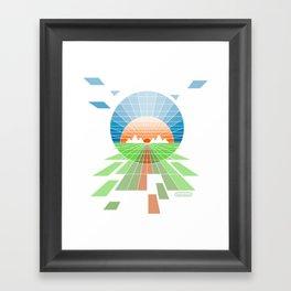 Sunrise off the Grid Framed Art Print
