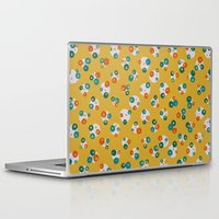 yellow pattern Laptop & iPad Skins featuring Yellow by Alisa Galitsyna