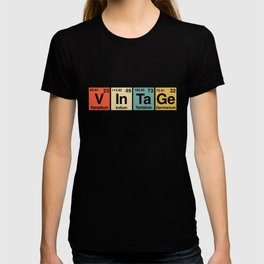 Vintage Periodic Table Elements Spelling T-shirt