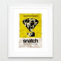 snatch Framed Art Prints featuring SNATCH by childoftheatom