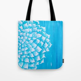 Aqua Watercolor Succulent Tote Bag