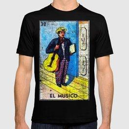 El Musico Mexican Loteria Bingo Card T-shirt