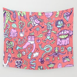 MONSTER FRIENDS Wall Tapestry