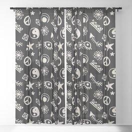 BOHEMIAN BOHO PATTERN 1 Sheer Curtain