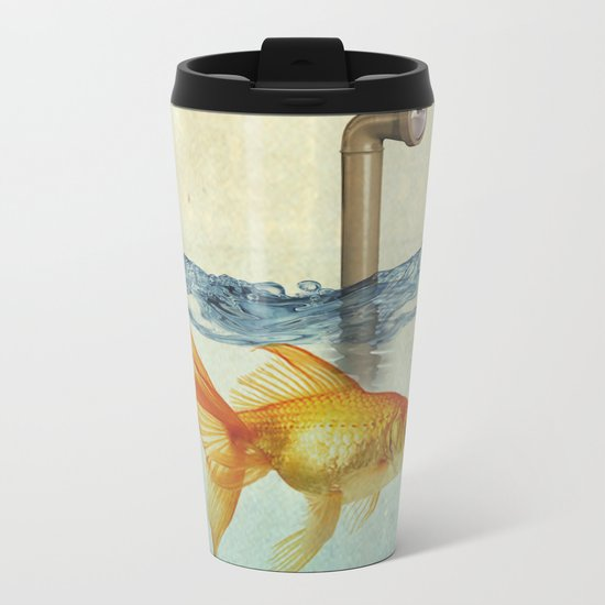 periscope goldfish Metal Travel Mug