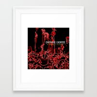 lacrosse Framed Art Prints featuring Chaparral Lacrosse Stix by TMCdesigns