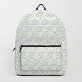 Geometric Watercolor Triangle Pattern Backpack
