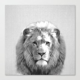 Lion - Black & White Canvas Print