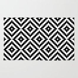 Aztec Block Symbol Ptn BW I Rug