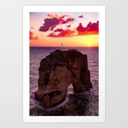 sunset #decor #buyart #society6 Art Print