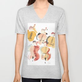 All About that Double Bass Section Unisex V-Neck