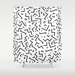 Memphis pattern 30 Shower Curtain