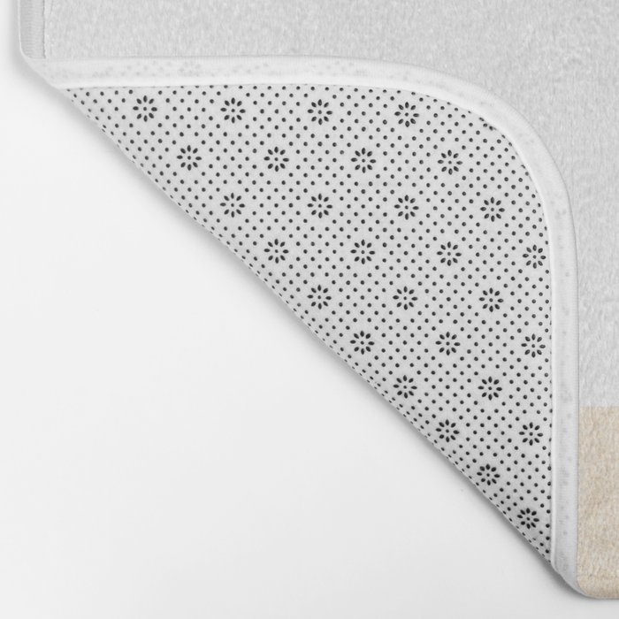 Simply Geometric in White Gold Sands on White Bath Mat