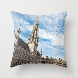 Grand Place in Brussels, Belgium Throw Pillow