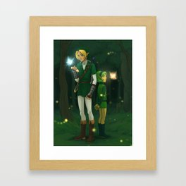 Link and Saria Framed Art Print